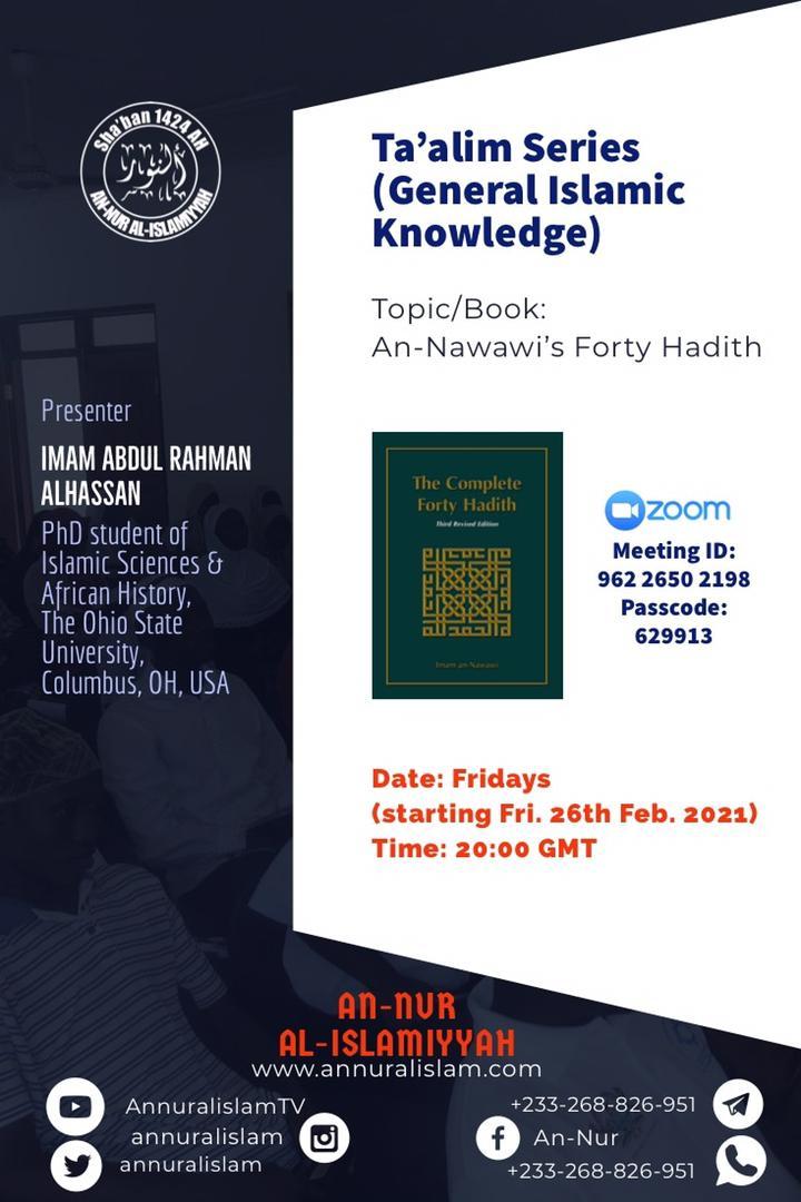 Ta'alim Series with Imam Abdul Rahman Alhassan